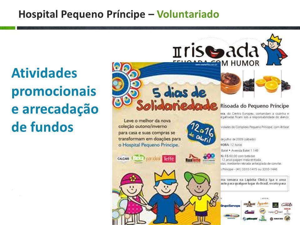 Hospital Pequeno Príncipe – Voluntariado Atividades promocionais e arrecadação de fundos