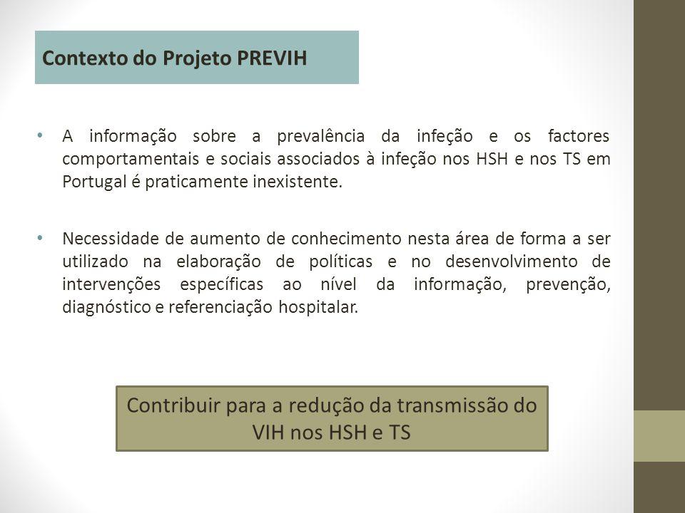 • A informação sobre a prevalência da infeção e os factores comportamentais e sociais associados à infeção nos HSH e nos TS em Portugal é praticamente inexistente.