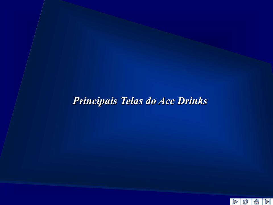 Principais Telas do Acc Drinks