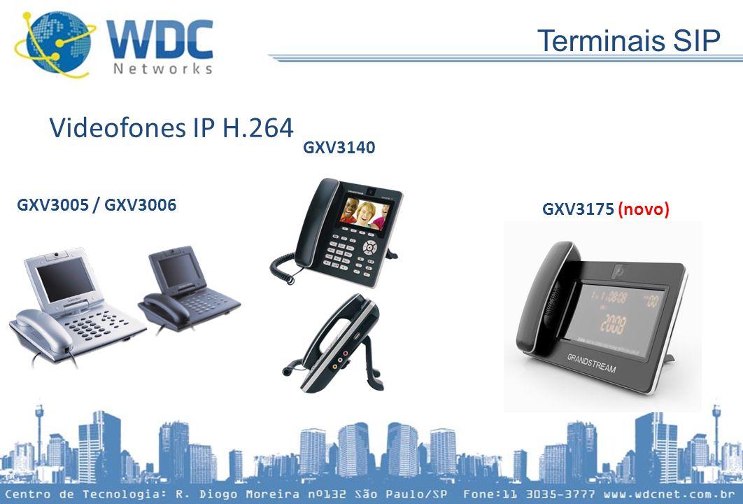 Terminais SIP Videofones IP H.264 GXV3005 / GXV3006 GXV3140 GXV3175 (novo)