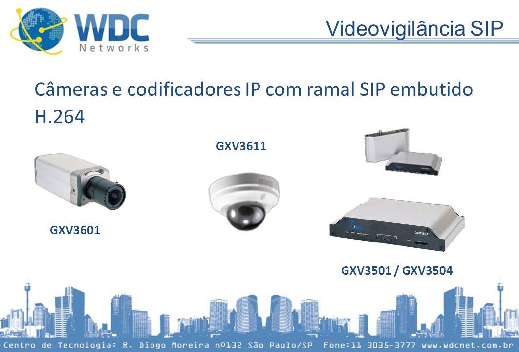 Câmeras e codificadores IP com ramal SIP embutido H.264 GXV3601 GXV3611 GXV3501 / GXV3504