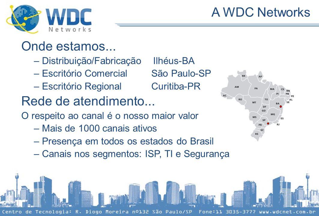 Onde estamos... – Distribuição/Fabricação Ilhéus-BA – Escritório Comercial São Paulo-SP – Escritório Regional Curitiba-PR Rede de atendimento... O res