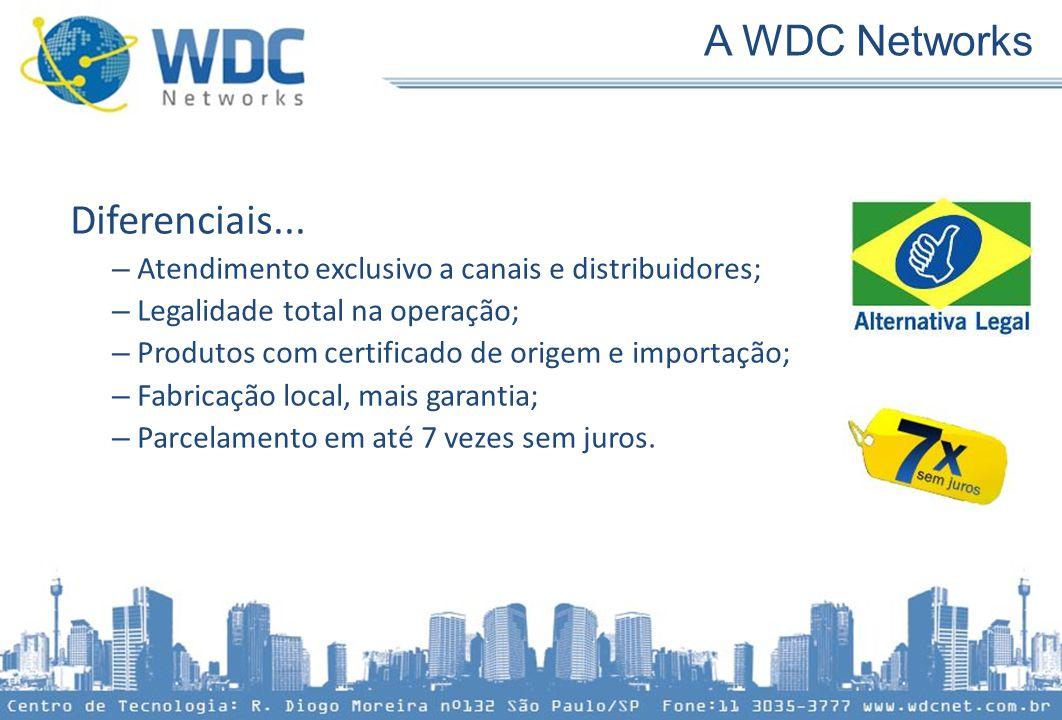 Diferenciais... – Atendimento exclusivo a canais e distribuidores; – Legalidade total na operação; – Produtos com certificado de origem e importação;