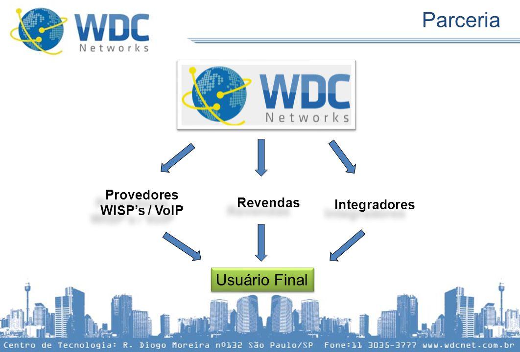 Provedores WISP's / VoIP Revendas Integradores Usuário Final Parceria