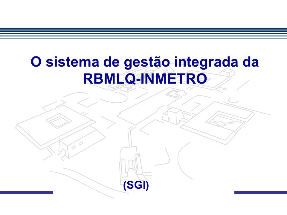 O sistema de gestão integrada da RBMLQ-INMETRO (SGI)