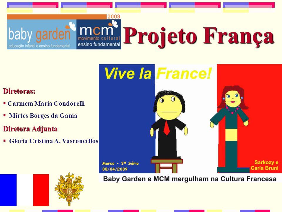 Projeto França Diretoras:  Carmem Maria Condorelli  Mirtes Borges da Gama Diretora Adjunta  Glória Cristina A.
