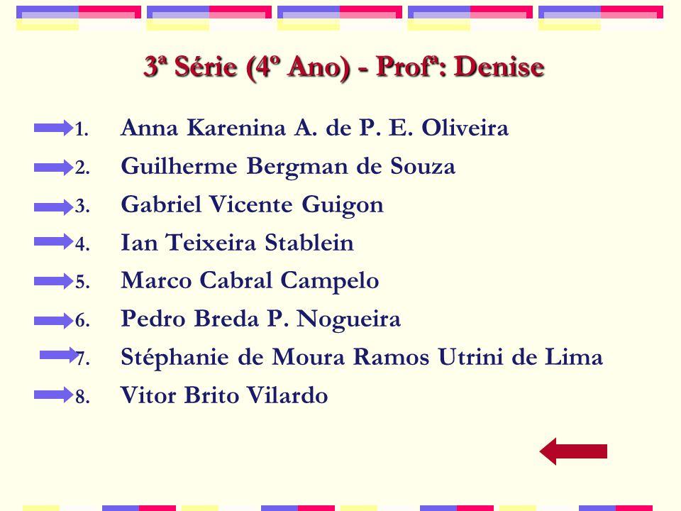 3ª Série (4º Ano) - Profª: Denise 1.Anna Karenina A.