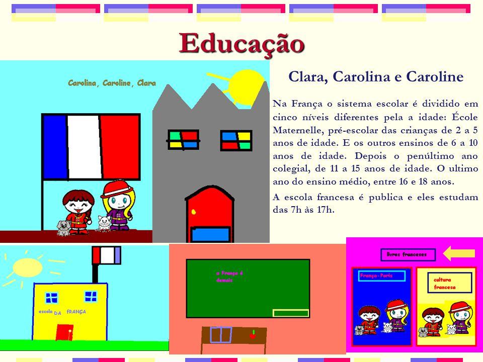 Educação Na França o sistema escolar é dividido em cinco níveis diferentes pela a idade: École Maternelle, pré-escolar das crianças de 2 a 5 anos de idade.