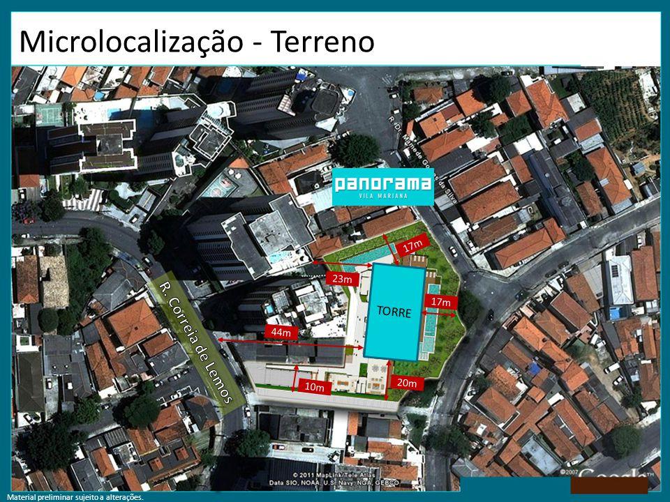 Microlocalização - Terreno TORRE 17m 20m 44m 17m 10m 23m