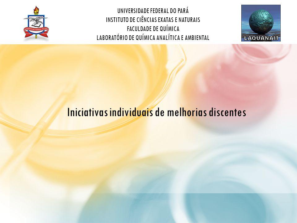 UNIVERSIDADE FEDERAL DO PARÁ INSTITUTO DE CIÊNCIAS EXATAS E NATURAIS FACULDADE DE QUÍMICA LABORATÓRIO DE QUÍMICA ANALÍTICA E AMBIENTAL Iniciativas individuais de melhorias discentes