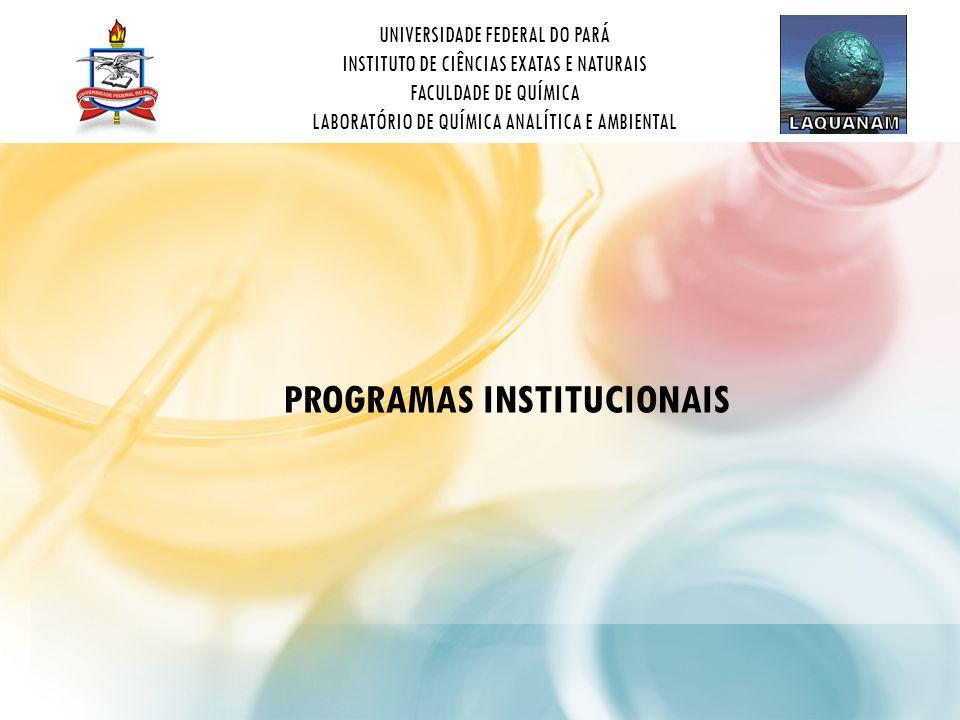 UNIVERSIDADE FEDERAL DO PARÁ INSTITUTO DE CIÊNCIAS EXATAS E NATURAIS FACULDADE DE QUÍMICA LABORATÓRIO DE QUÍMICA ANALÍTICA E AMBIENTAL PROGRAMAS INSTITUCIONAIS