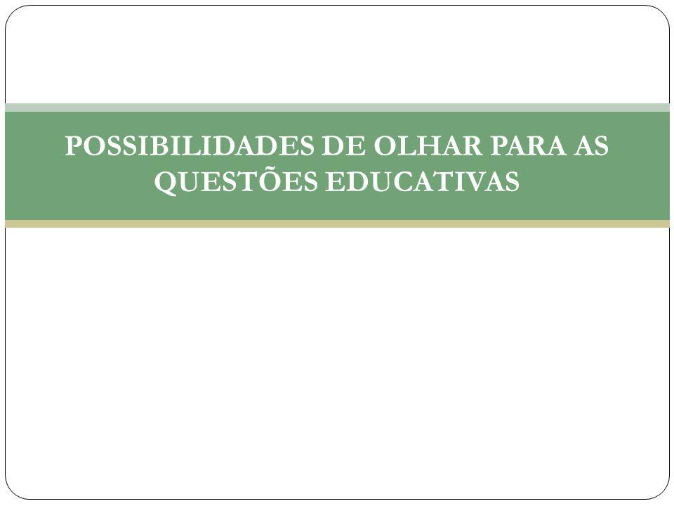 POSSIBILIDADES DE OLHAR PARA AS QUESTÕES EDUCATIVAS
