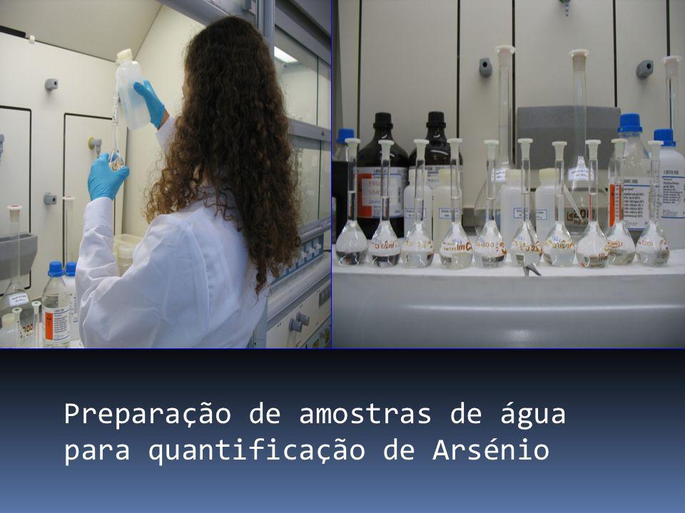 Preparação de amostras de água para quantificação de Arsénio