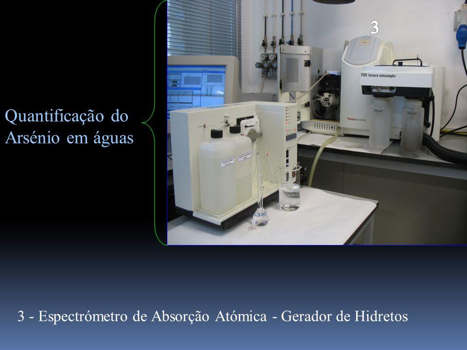Quantificação do Arsénio em águas 3 - Espectrómetro de Absorção Atómica - Gerador de Hidretos