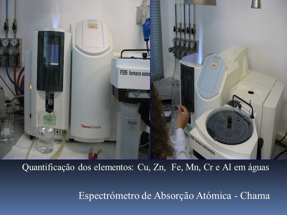 Quantificação dos elementos: Cu, Zn, Fe, Mn, Cr e Al em águas Espectrómetro de Absorção Atómica - Chama