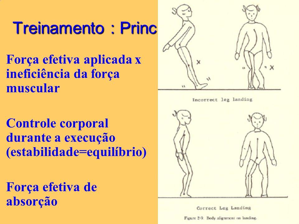 27/6/2014 29 Treinamento : Princípios Força efetiva aplicada x ineficiência da força muscular Controle corporal durante a execução (estabilidade=equil