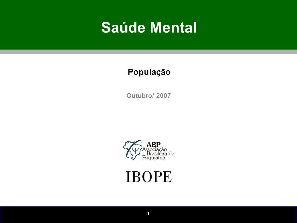 1 Saúde Mental Outubro/ 2007 População
