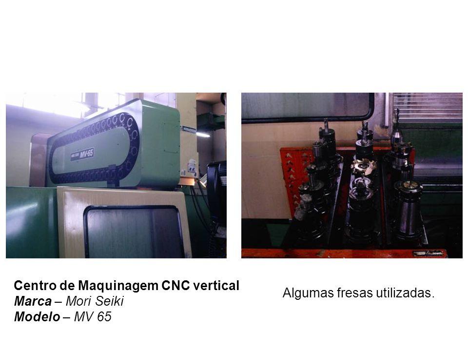 Centro de Maquinagem CNC vertical Marca – Mori Seiki Modelo – MV 65 Algumas fresas utilizadas.