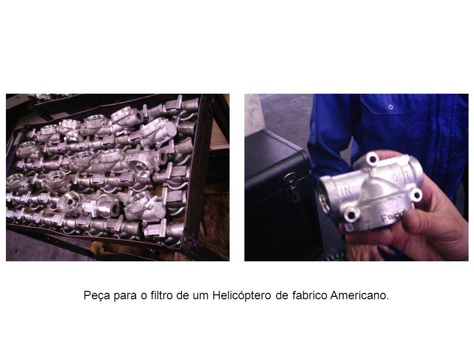 Peça para o filtro de um Helicóptero de fabrico Americano.