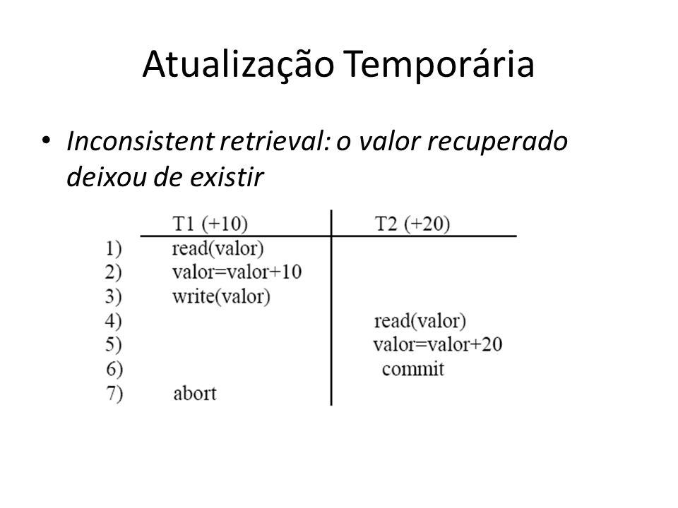 Atualização Temporária • Inconsistent retrieval: o valor recuperado deixou de existir