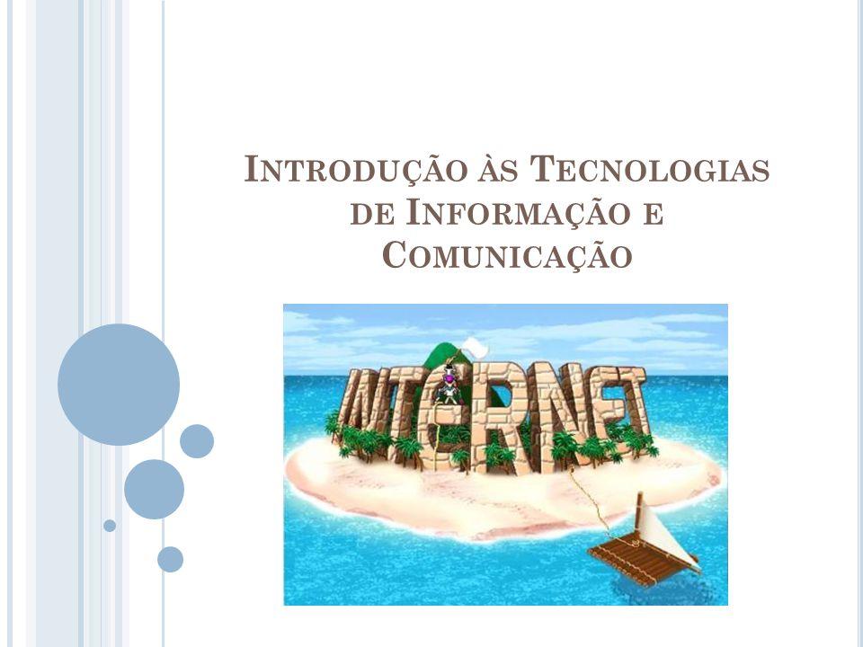 I NTRODUÇÃO À I NTERNET A Internet é a maior rede de computadores do Mundo, abrangendo praticamente todos os países; Escrevemos Internet com um « I » maiúsculo por esta ser considerada, precisamente, a «rede das redes».