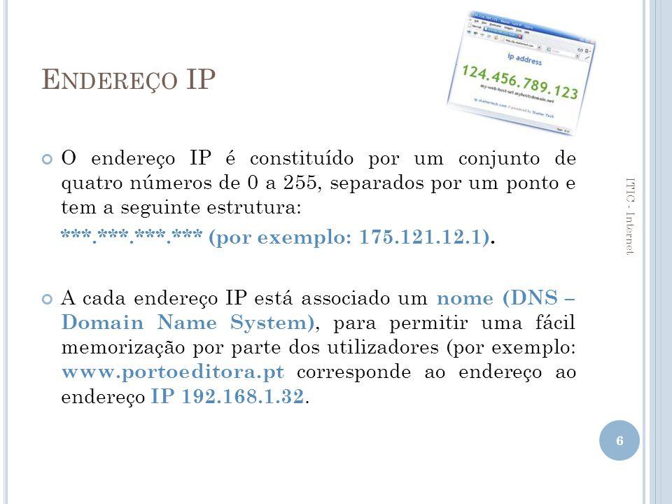 DNS Os DNS são constituídos por duas partes.