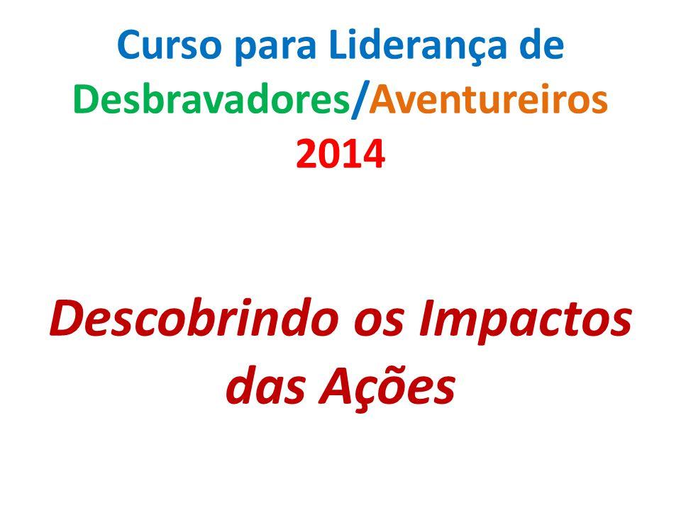 Curso para Liderança de Desbravadores/Aventureiros 2014 Descobrindo os Impactos das Ações