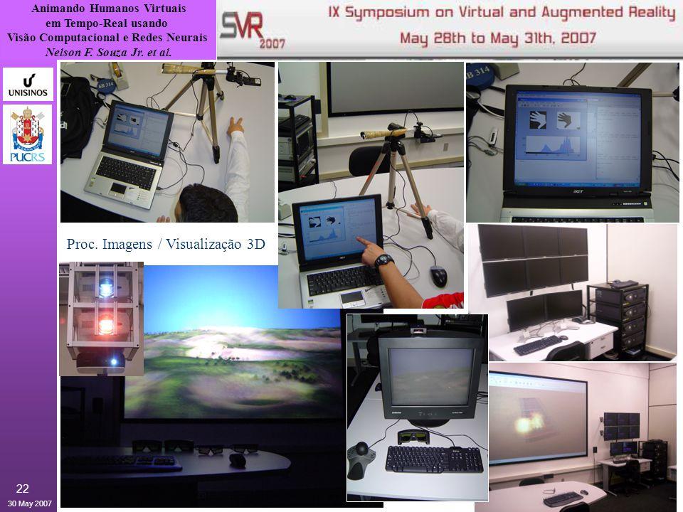 Animando Humanos Virtuais em Tempo-Real usando Visão Computacional e Redes Neurais Nelson F. Souza Jr. et al. 30 May 2007 22 Proc. Imagens / Visualiza