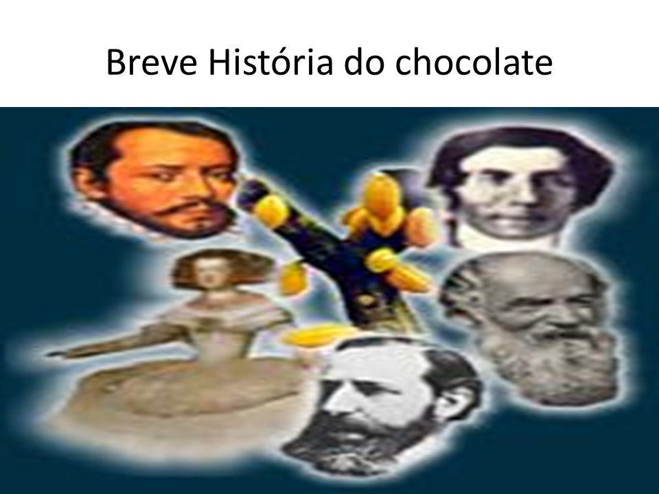 Breve História do Chocolate • A comercialização do pó começa após o invento da prensa pelo químico holandês Coenraad van Houten, juntamente com a manteiga de cacau.