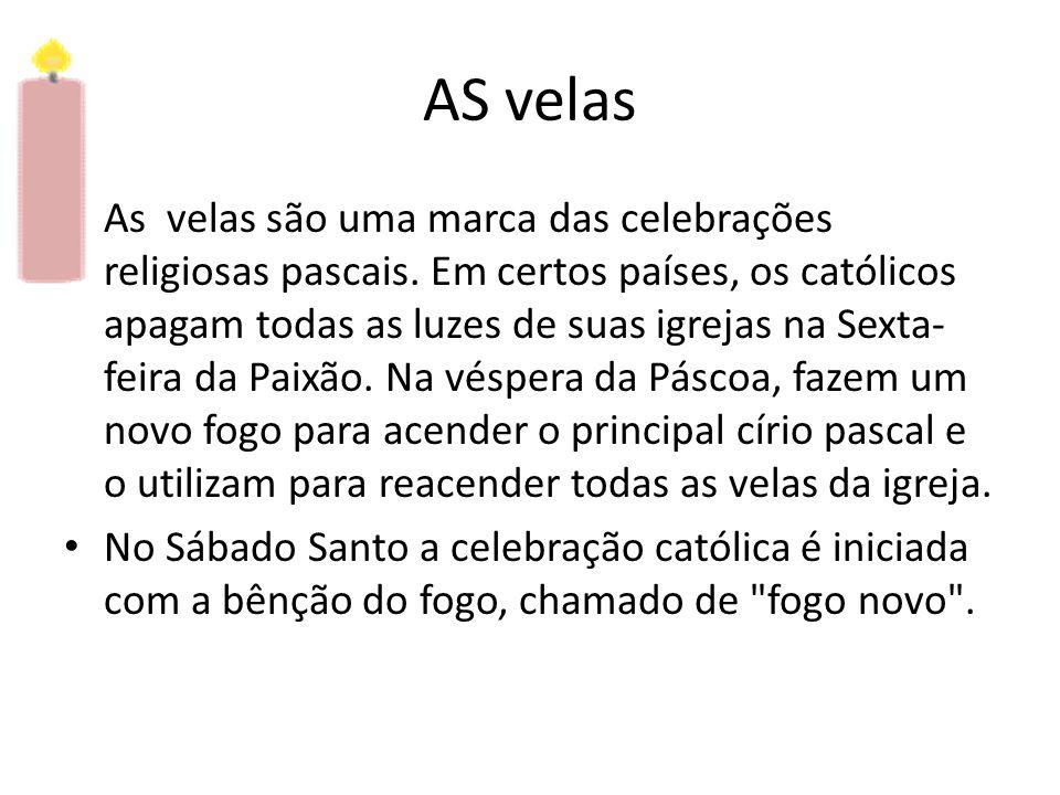 O círio Pascal • O círio pascal é aquela grande vela decorada que tem a cruz como desenho central.