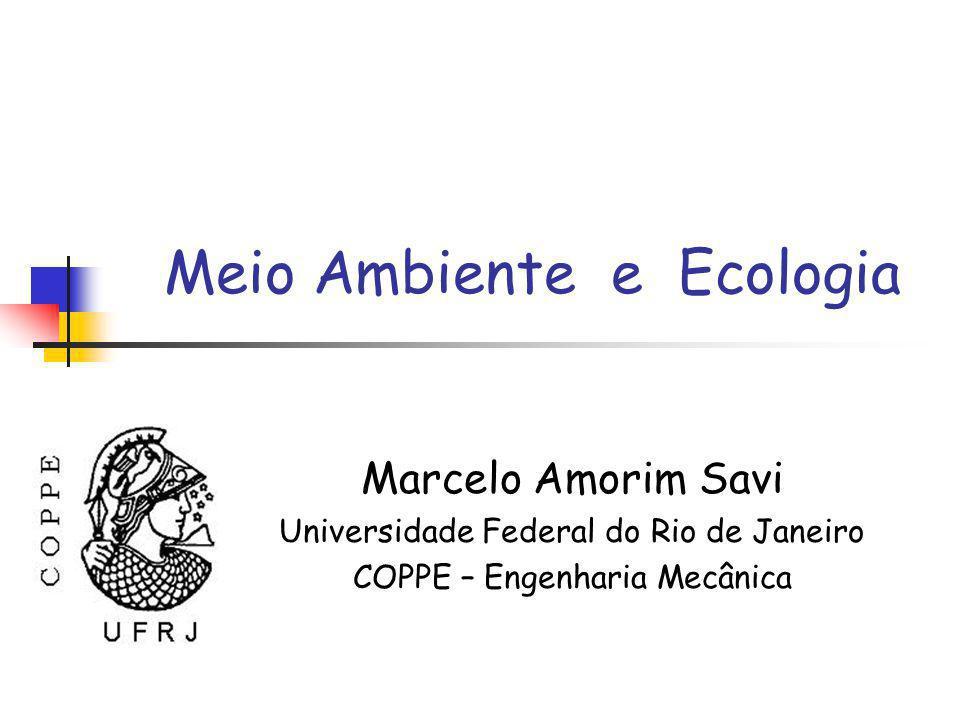 Meio Ambiente e Ecologia Marcelo Amorim Savi Universidade Federal do Rio de Janeiro COPPE – Engenharia Mecânica