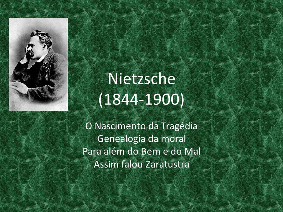 Nietzsche (1844-1900) O Nascimento da Tragédia Genealogia da moral Para além do Bem e do Mal Assim falou Zaratustra