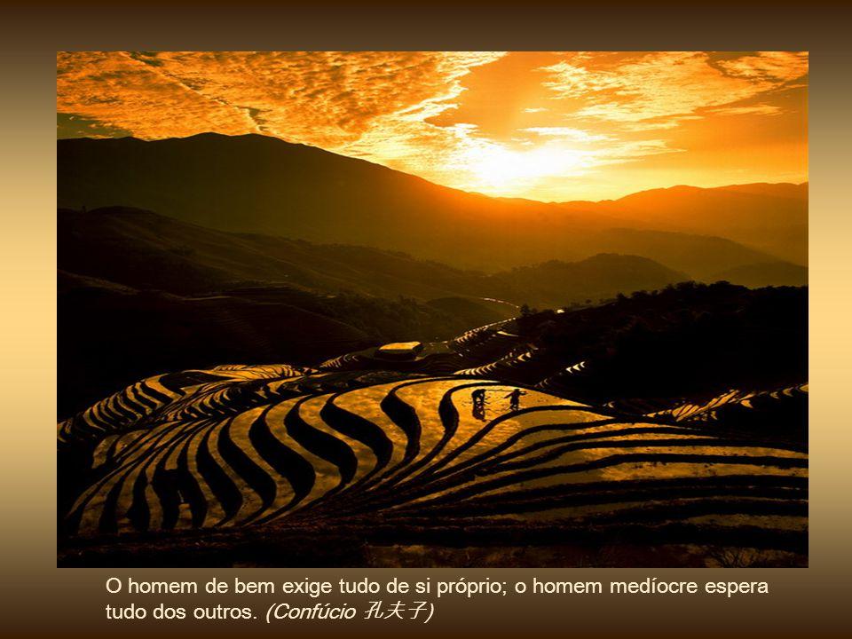 O sábio teme o céu sereno; porém, quando vem a tempestade ele caminha sobre as ondas e desafia o vento. (Confúcio 孔夫子) 
