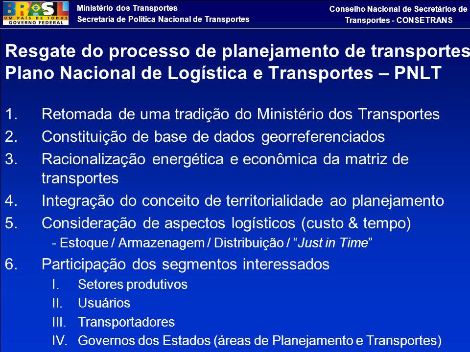 Ministério dos Transportes Secretaria de Política Nacional de Transportes Conselho Nacional de Secretários de Transportes - CONSETRANS Resgate do proc