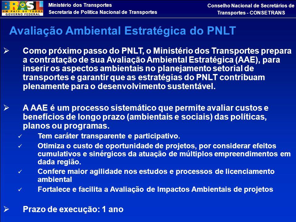 Ministério dos Transportes Secretaria de Política Nacional de Transportes Conselho Nacional de Secretários de Transportes - CONSETRANS  Como próximo