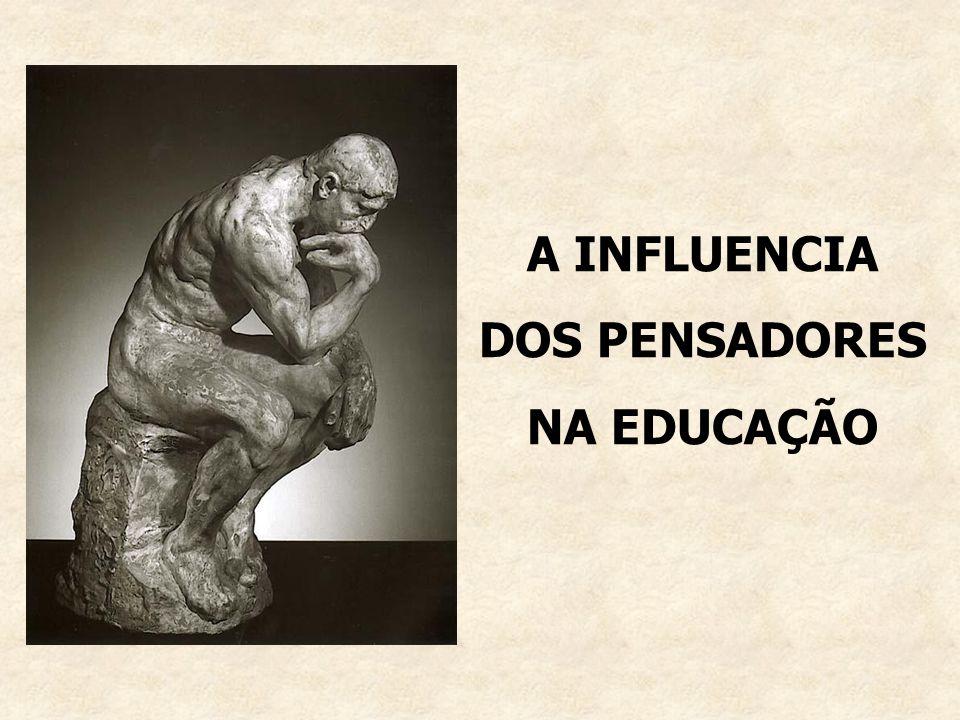A INFLUENCIA DOS PENSADORES NA EDUCAÇÃO