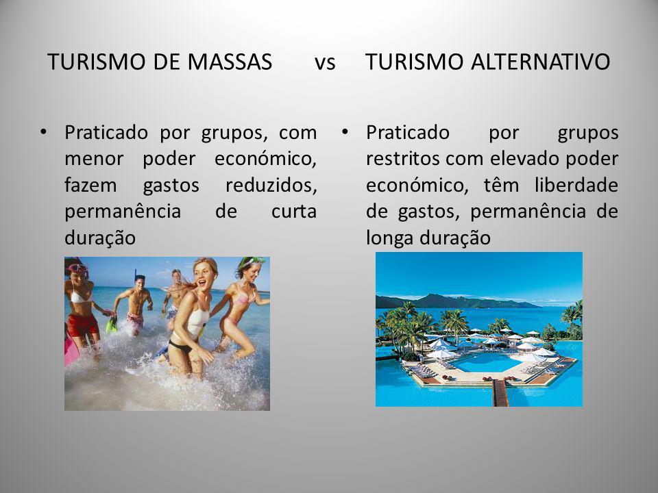 TURISMO DE MASSAS VS TURISMO ALTERNATIVO UFCD – 9 INFORMAÇÃO E PROMOÇÃO DO DESTINO TURISTICO PORTUGAL