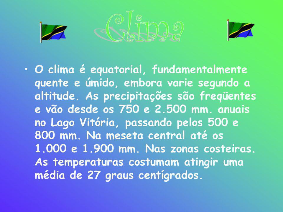 •O clima é equatorial, fundamentalmente quente e úmido, embora varie segundo a altitude. As precipitações são freqüentes e vão desde os 750 e 2.500 mm