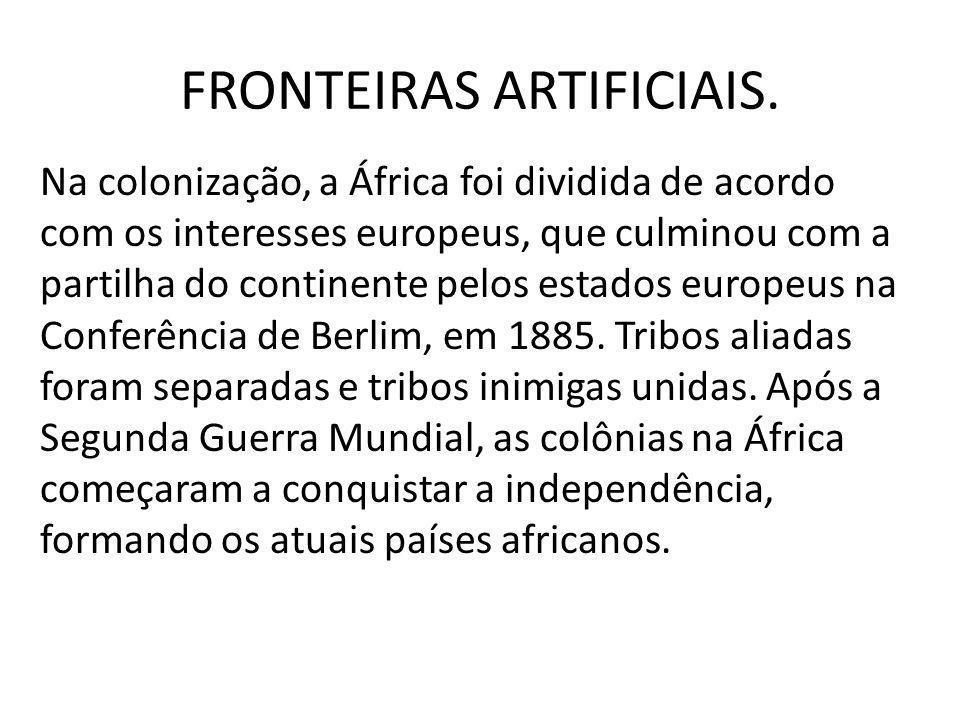 FRONTEIRAS ARTIFICIAIS.