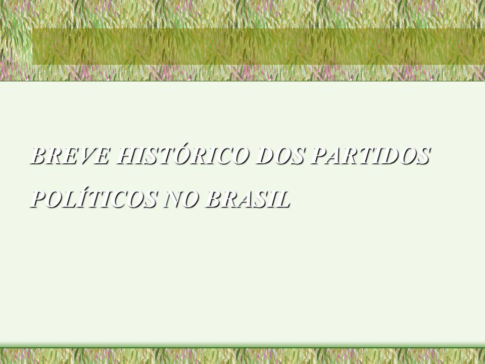 BREVE HISTÓRICO DOS PARTIDOS POLÍTICOS NO BRASIL