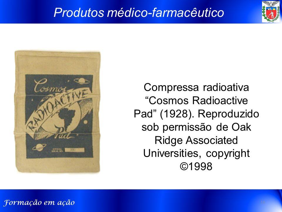 """Formação em ação Compressa radioativa """"Cosmos Radioactive Pad"""" (1928). Reproduzido sob permissão de Oak Ridge Associated Universities, copyright ©1998"""