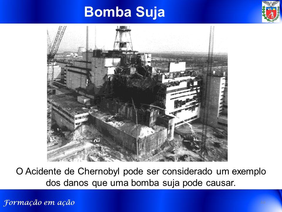 Formação em ação O Acidente de Chernobyl pode ser considerado um exemplo dos danos que uma bomba suja pode causar. Bomba Suja 44
