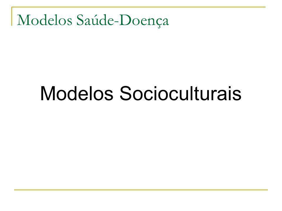 Modelos Saúde-Doença Modelos Socioculturais