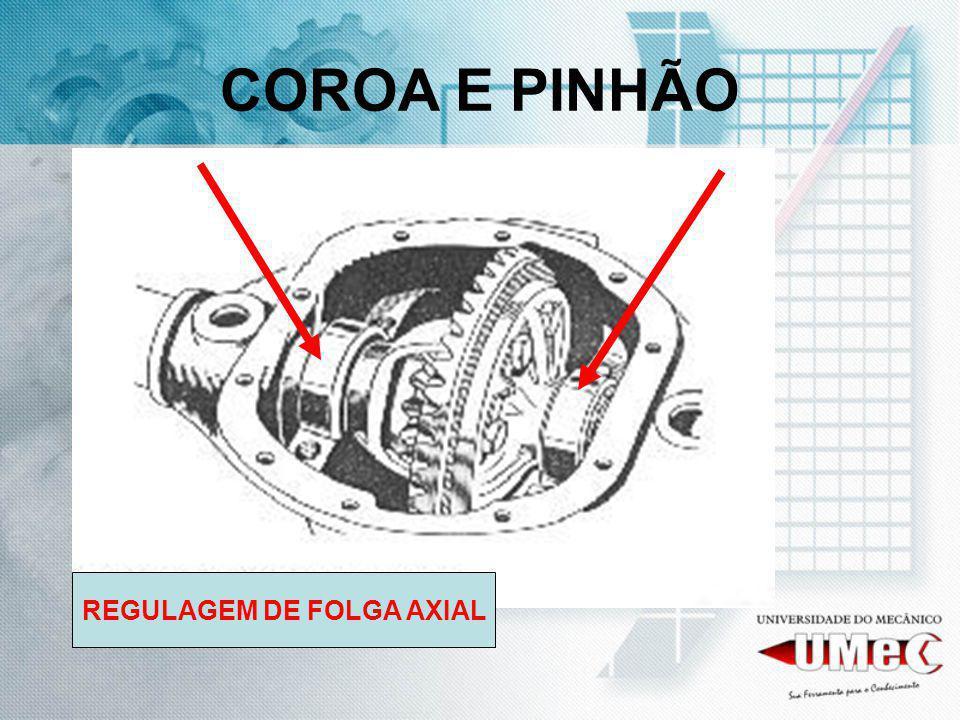 COROA E PINHÃO REGULAGEM DE FOLGA AXIAL