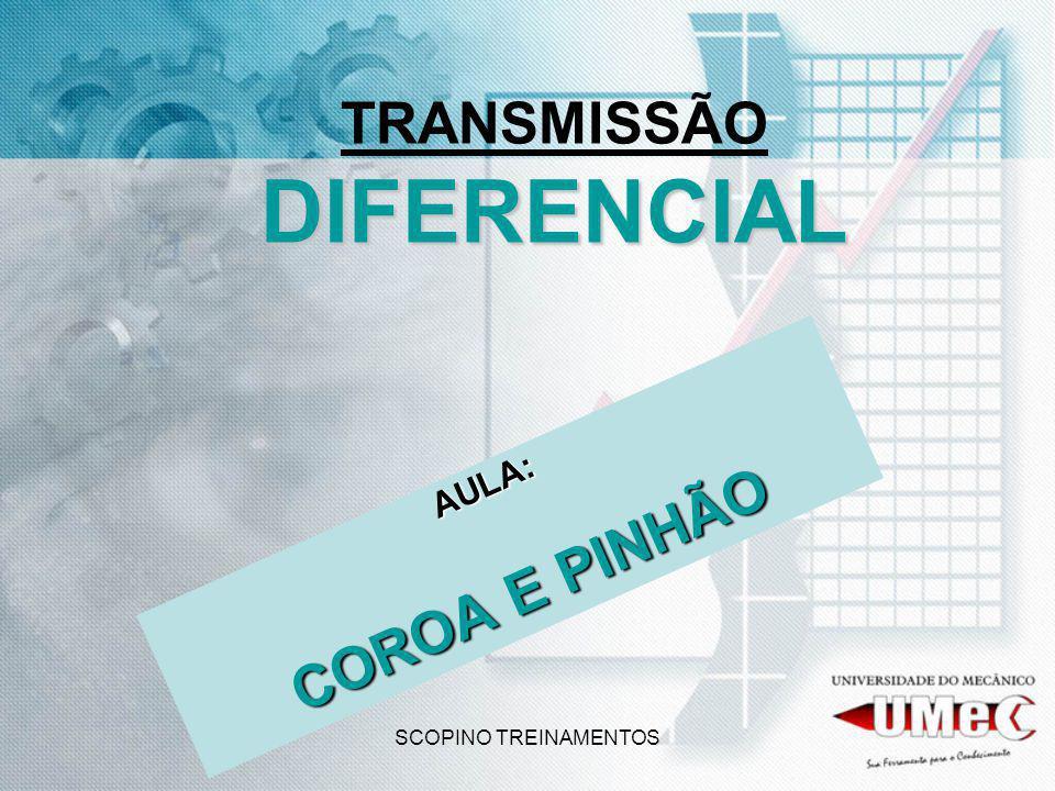 SCOPINO TREINAMENTOS DIFERENCIAL TRANSMISSÃO DIFERENCIAL AULA: COROA E PINHÃO