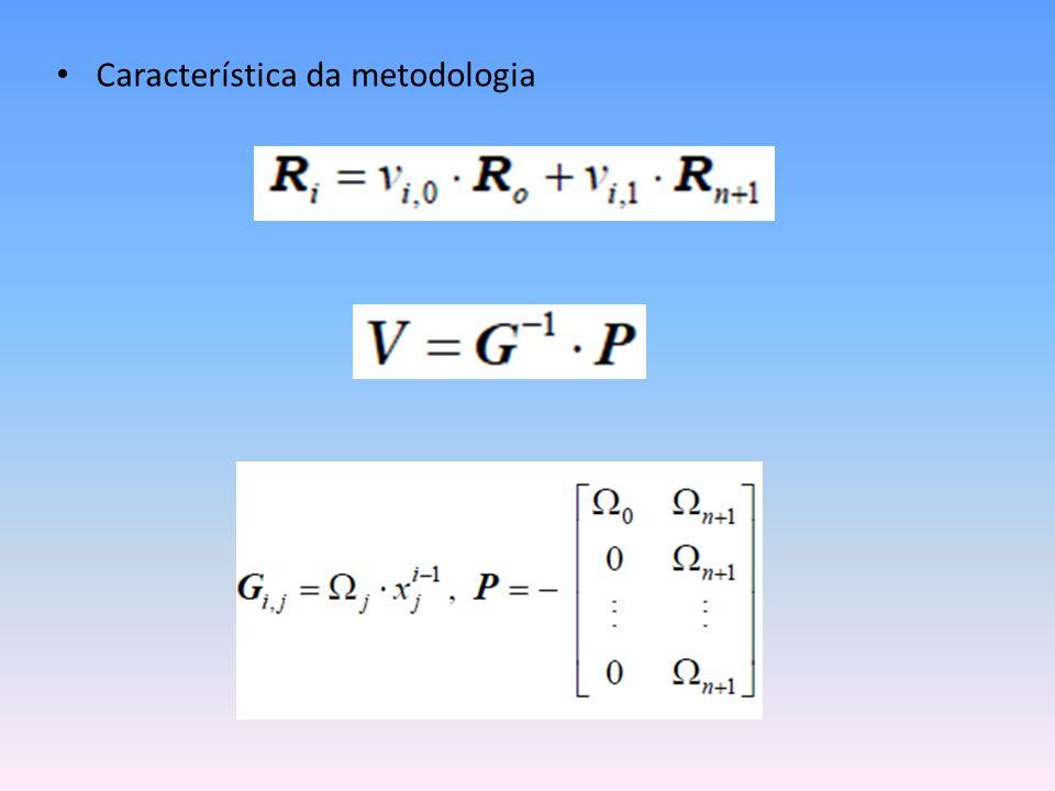 • Característica da metodologia