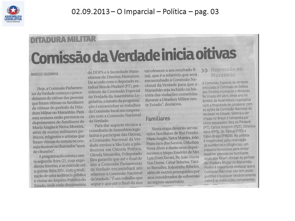 02.09.2013 – O Imparcial – Política – pag. 03