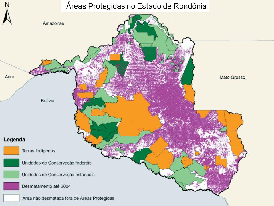 Áreas Protegidas no Estado de Rondônia