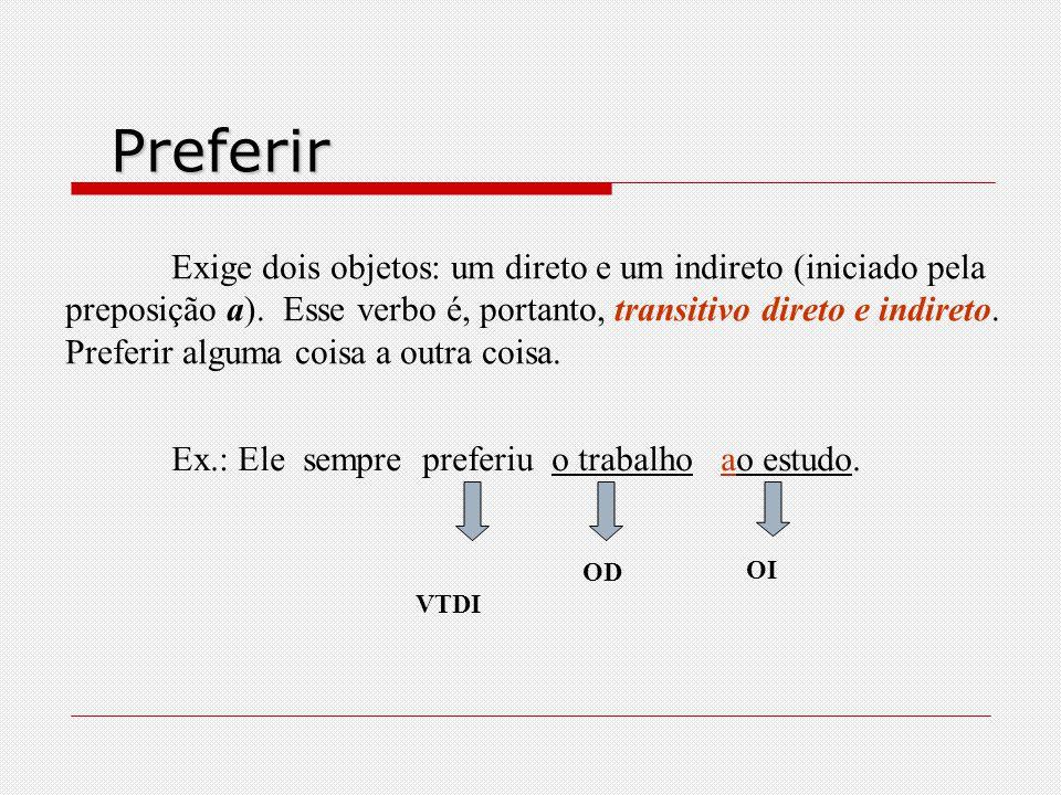 Pagar e perdoar Não mudam de sentido, mas podem ser transitivos diretos ou indiretos, dependendo do tipo de objeto que apresentam. a)São verbos transi