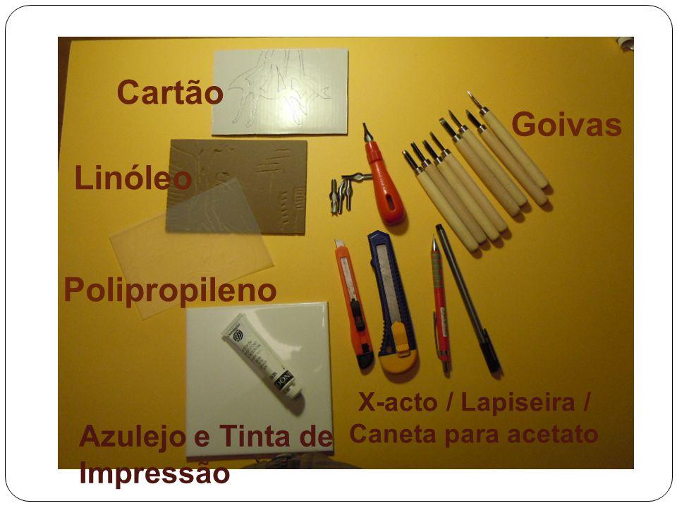 Goivas Azulejo e Tinta de Impressão X-acto / Lapiseira / Caneta para acetato Cartão Linóleo Polipropileno